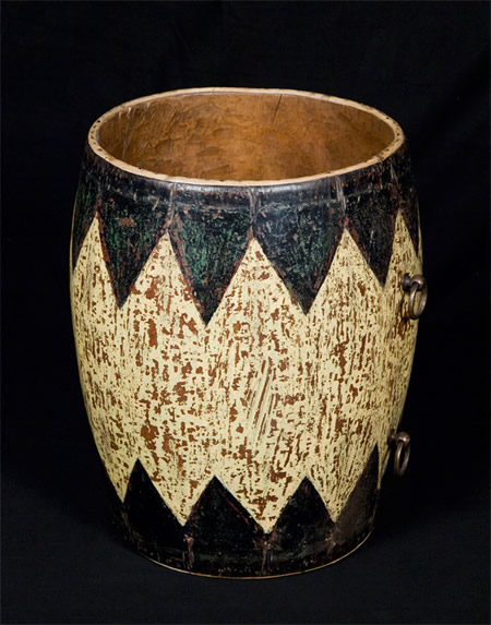 ANTIQUE DRUM VESSEL